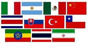 Verschiedene Flaggen der Länder unserer Gäste.