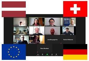 Teilnehmer des online abgehaltenen BBCE Fortschrittstreffens. Der Lehrstuhl Biomaterialen ist vertreten durch Dr. Liliana Liverani und Prof. Aldo R. Boccaccini.